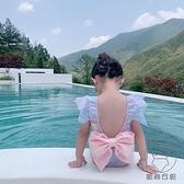 兒童泳衣可愛韓國女童美人魚泳衣溫泉蝴蝶結泳裝【貼身日記】