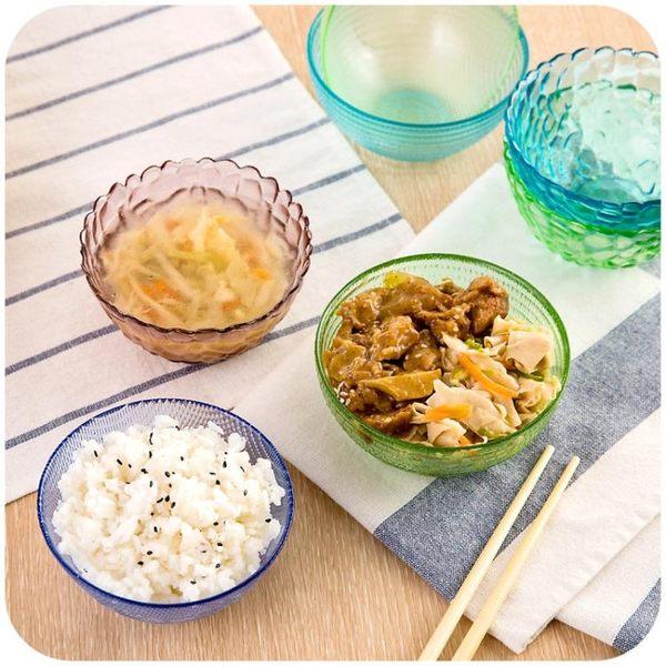 [超豐國際]鉆石透明玻璃碗米飯碗水果碗家用創意餐具沙拉碗湯碗水晶碗