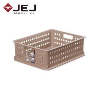 日本JEJ AS BASKET 自由組合整理籃/#2 2入組棕色