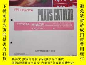 二手書博民逛書店TOYOTA罕見GENUINE PARTS PARTS CATALOG HIACE Van Commuter 19
