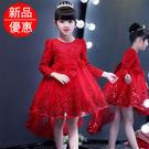 花童禮服 長袖連身裙兒童公主裙寶寶蓬蓬裙子聖誕生禮物【莎芭】 需要加絨款聯繫客服