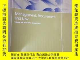 二手書博民逛書店Management,罕見Procurement and Law