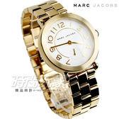 Marc Jacobs 精品錶 Riley 城市小秒針腕錶 金色電鍍 MJ3470 marc by marc jacobs