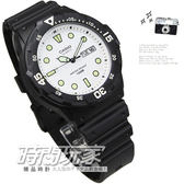 CASIO卡西歐MRW-200H-7E指針錶 白面 黑色橡膠 47mm 男錶 時間玩家 MRW-200H-7EVDF