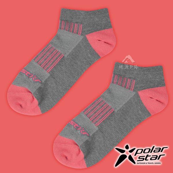 PolarStar 中性排汗踝襪 露營.戶外.登山.排汗襪.彈性襪.紳士襪.休閒襪.低筒襪.短襪- P17520 淺灰