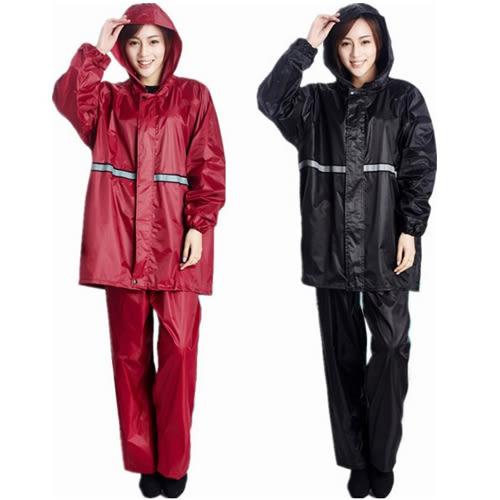 較薄兩件式套裝帶帽風雨衣(2色)