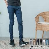 情侶款 超彈力素面工作長褲【F55702】OBIYUAN韓版修身剪裁休閒褲 共6色