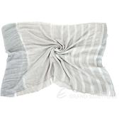 FABIANA FILIPPI 莫代爾羊毛混紡金蔥條紋流蘇圍巾(燕麥色) 1940300-06