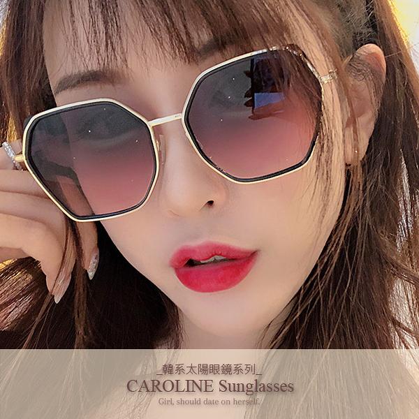 《Caroline》年度最新網紅款潮流百搭抗UV時尚太陽眼鏡 72119
