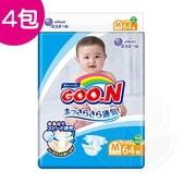 【4入】GOO.N日本頂級透氣舒柔紙尿褲M 64片 (黏貼型)【產地日本】【佳兒園婦幼館】
