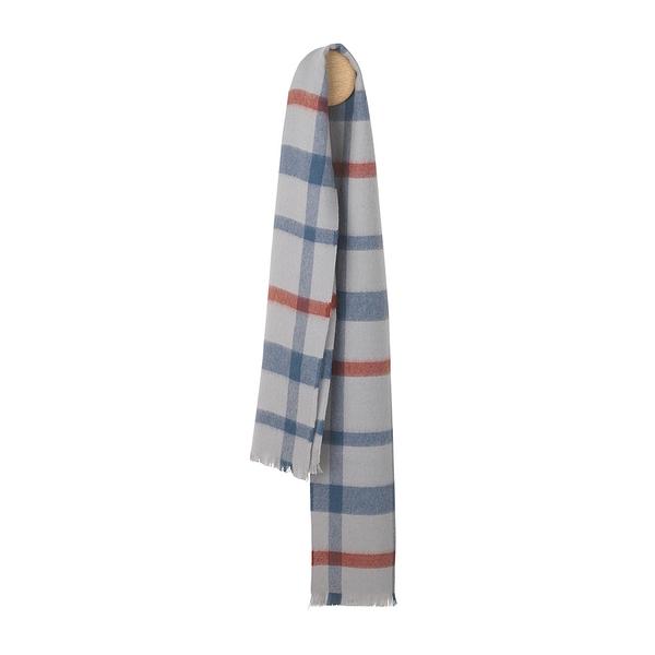 Elvang London Alpaca Wool Scarves 30x160cm 100% 倫敦系列 格紋 超輕量 羊駝毛 圍巾(冬日灰藍)