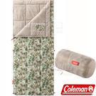 Coleman CM-35288大自然迷彩 信封型表演者睡袋III 睡蛋 適溫10度/露營化纖寢袋/午睡保暖被/懶人毯