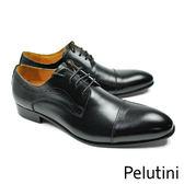 【Pelutini】橫飾德比鞋 時尚黑(9124-BL)