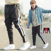 縮口褲 韓國製運動風高磅雙線哈倫褲棉褲縮口褲【NB0445J】