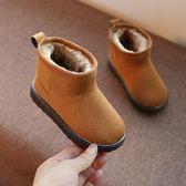 (交換禮物 聖誕)尾牙 兒童雪地靴男童新款寶寶棉鞋冬季女童靴子加絨小中大童鞋棉靴