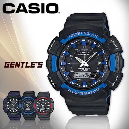 CASIO 卡西歐手錶專賣店 AD-S800WH-2A2 男錶 雙顯錶 橡膠錶帶 太陽能電力 鬧鈴 防水 200米