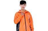 [東門城] M2R M7 二件式雨衣 風衣 4色 黑橘 輕量 PU尼龍布料 安全反光