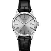 Hamilton漢米爾頓 AMERICAN CLASSIC 羅馬機械錶-銀x黑/40mm H39515754