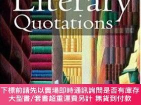 二手書博民逛書店The罕見Oxford Dictionary Of Literary QuotationsY255174 Ke