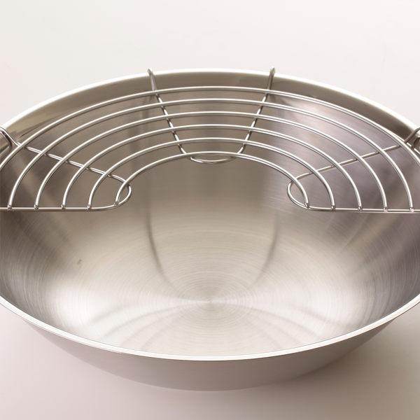 【德國 Fissler】 Original Profi 中式炒鍋附瀝油架 30cm (不鏽鋼鍋蓋)【Casa More美學生活】
