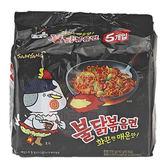 韓國 SAMYANG 三養 火辣雞肉風味鐵板炒麵140g*5包(整袋裝)【小三美日】