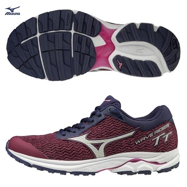 MIZUNO WAVE RIDER TT 女鞋 慢跑 路跑 越野 避震 穩定 DROP 12mm 紫【運動世界】J1GD193239