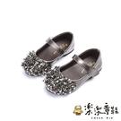 【樂樂童鞋】閃亮水晶公主皮鞋 S306 - 公主鞋 閃亮水晶 跳舞鞋 表演鞋 童鞋 皮鞋 水鑽 女童