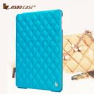 【愛瘋潮】JisonCase iPad Air 專用 手工三摺鑽石格紋保護套