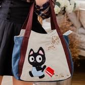 Kiro貓‧旅遊小黑貓肩背包/托特包/外出包/可收納7.9吋平板【810015】