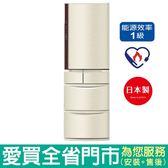 (1級能效)Panasonic國際411L五門變頻冰箱NR-E412VT-N1含配送到府+標準安裝【愛買】