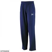 Mizuno [32TD5A3816] 男女 運動 休閒 慢跑 路跑 訓練 健身 輕量 柔軟 針織 長褲 藍