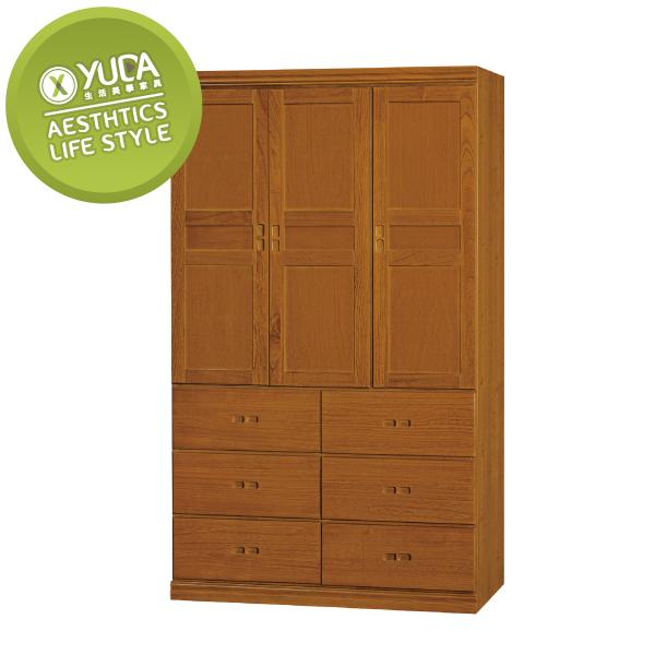 衣櫃【YUDA】懷舊 中式 實木 4*7尺 6大抽 衣櫥/櫥櫃 K9F 190-1