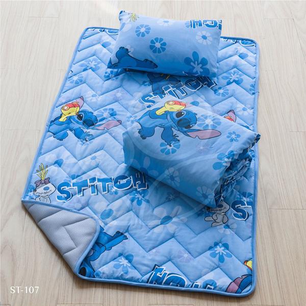 Disney 迪士尼 3合1睡墊(含童枕/睡墊/涼被) 史迪奇ST-107【佳兒園婦幼館】