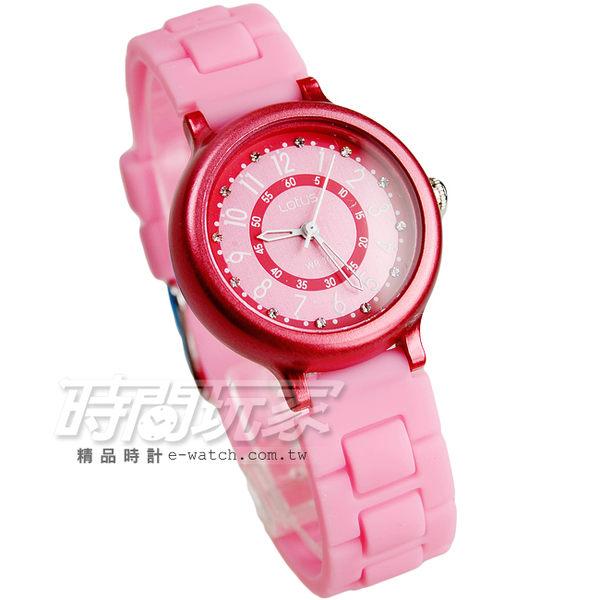 Lotus 時尚錶 日本機蕊 繽紛馬卡龍 數字時刻矽膠腕錶 粉紅 數字錶 女錶 學生錶 TP2122L-09粉紅