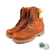 【Panama Jack】Felicia休閒皮革女靴/短靴 棕色(P9117W-CUE)