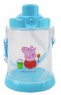 Peppa Pig 粉紅豬小妹 佩佩豬 胖胖吸管水壺 430ml 藍 PP54861B