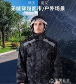 摩托車雨衣-雨衣雨褲套裝男女戶外騎行分體加厚防水摩托電瓶車外賣防暴雨雨衣 花間公主
