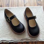 聖誕回饋 大頭鞋原宿風單鞋圓頭鞋娃娃鞋平底鞋森系復古文藝女鞋小清新女鞋