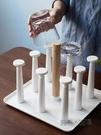 米立風物杯架水杯掛架創意家用客廳玻璃杯瀝水置物架帶托盤茶杯架 618促銷