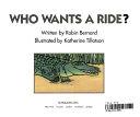 二手書博民逛書店《Who Wants a Ride?》 R2Y ISBN:059