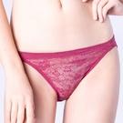 思薇爾-輕戀香系列M-XL蕾絲低腰三角內褲(波斯紅)