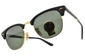 RayBan 摺疊太陽眼鏡 RB2176 901 (黑金-綠鏡片) 潮流經典眉框款 墨鏡 # 金橘眼鏡
