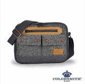 【COLORSMITH】BG・雙層全開側背包-灰色・BG1074-A-GY