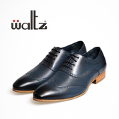 Waltz-仿古刷色雕花紳士皮鞋212126-07(藍)