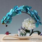 蝴蝶蘭假花盆栽歐式仿真花藝套裝家居客廳裝飾花玄關餐桌盆景擺件
