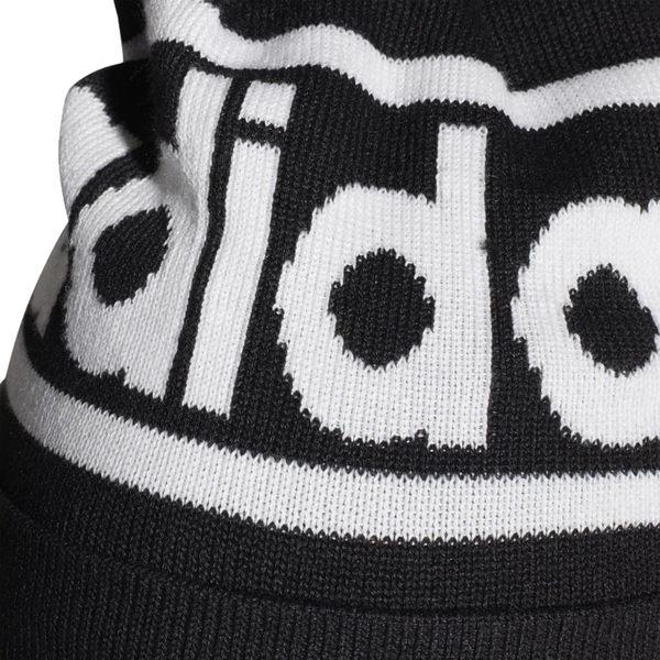 Adidas Woolie 毛帽 黑 毛球 毛帽 男 女 字母 毛帽 Pompom 保暖 聖誕禮物 ED0239