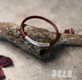 西藏雞血藤手鐲女款男款925銀無節情侶木手鐲飾品送女友 DR14261【彩虹之家】