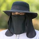 釣魚帽子男遮陽帽夏季戶外防曬太陽帽大檐垂釣透氣漁夫帽登山涼帽 3C優購