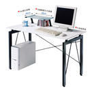 【森可家居】歐雪4尺白色鋼烤電腦桌(含上...