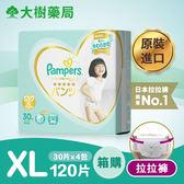 日本境內幫寶適-五星一級幫版拉拉褲/褲型紙尿褲XL120片(30片x4包/箱購)-廠商直送 大樹